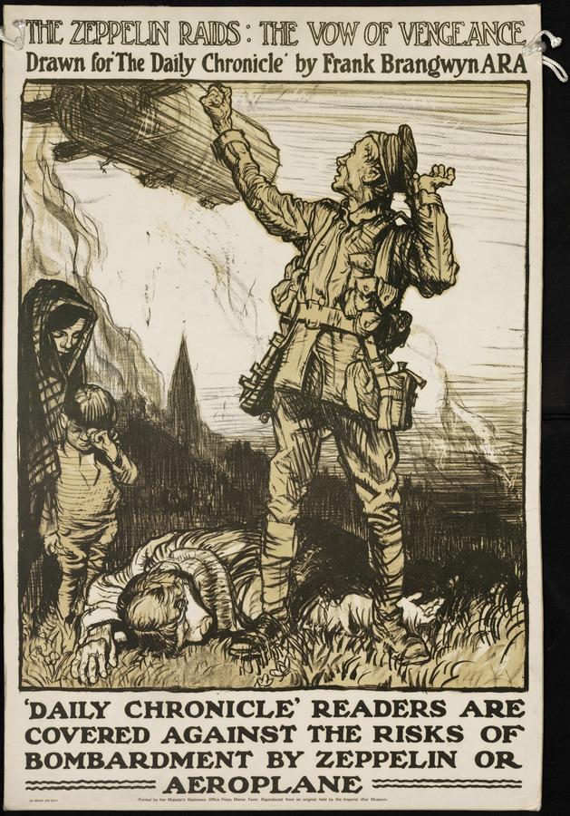 Frank Brangwyn The Zeppelin Raids: The Vow of Vengeance