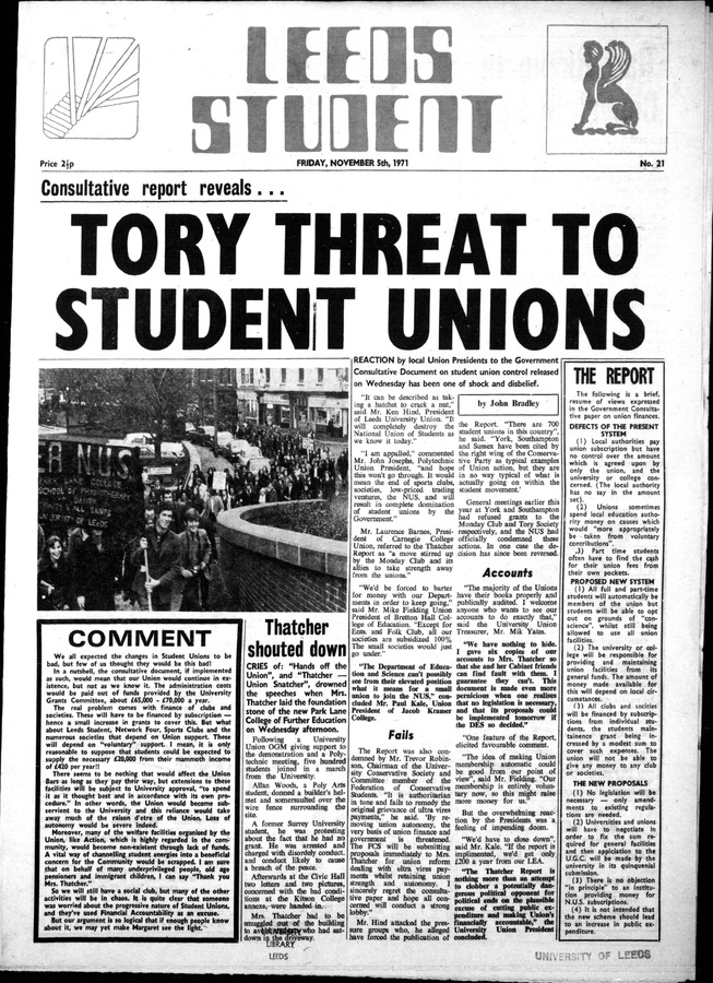 1 Leeds Student, issue 21