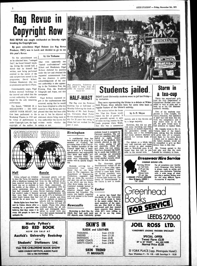 2 Leeds Student, issue 21